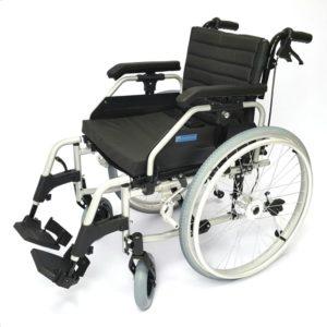 Кресло-коляска инвалидная алюминиевая складная с регулируемым углом наклона спинки LY-710 (710-033/42) Tommy, на литых колесах, ширина сиденья 42,45,48 см, нагрузка 120 кг
