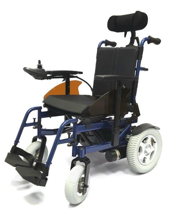Кресло-коляска инвалидная с электроприводом складная LY-EB103 (Recliner), ширина сиденья 48 см, грузоподъемность 135 кг